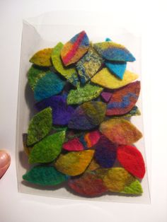 These little felt leaves are all handmade and are all roughly the same size. Around 3/4 - 1 1/2  Perfect for adding to to so many projects!      Each