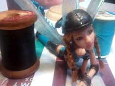 new Roller Derby Fairy - POTTERY, CERAMICS, POLYMER CLAY