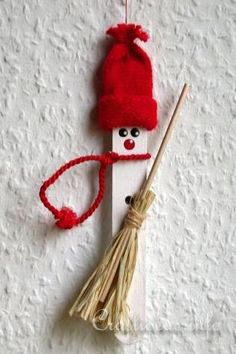 Craft Stick Winter Snowman Ornament  ~  an adorable gift for the children in the classroom
