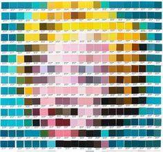 Les créations de l'artiste écossaisNick Smith, basé à Londres, qui utilise les cartes du célèbre nuancier Pantone pour rendre hommage aux grands classiq
