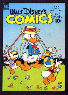 WALT DISNEY'S COMICS & STORIES 92 7.0 FVF 1948 DELL CARL BARKS DONALD DUCK | eBay