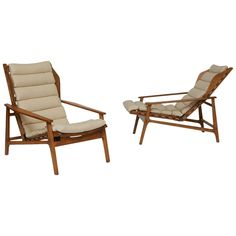 Pair of Gio Ponti Lounge Chairs | From a unique collection of antique and modern lounge chairs at https://www.1stdibs.com/furniture/seating/lounge-chairs/