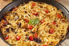 Tepsiben sült sajtos spagetti, Olaszország ízei a konyhában! Ínycsiklandó és gyors tészta recept!