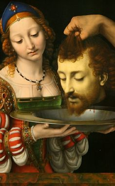 Salome with the Head of Saint John the Baptist by Andrea Solario - Art Print Art Painting Images, Old Paintings, Beautiful Paintings, Rage Art, Judith And Holofernes, Grimoire Book, Klimt Art, Ideal Girl, Fontainebleau