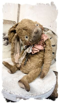 "Image of NEW DESIGN * 10"" Vintage Style Long Frumpy Flop-Ear Rabbit * By Whendi's Bears"