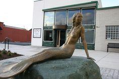 Mermaid located on Pioneer Way in Oak Harbor, Washington. Oak Harbor Washington, Tacoma Washington, Washington State, Seattle Vacation, Navy Day, Evergreen State, Whidbey Island, Cruise Port, Island Life