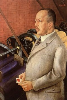 Otto Dix, Portrait of the Manufacturer Dr. Julius Hesse with Paint Sample, 1926