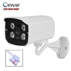 NEW IP Camera 720P/960P/1080P  4pcs ARRAY LED P2P ONVIF Outdoor Metal Case IP66  Security CCTV Camera Surveillance FULL HD #Affiliate