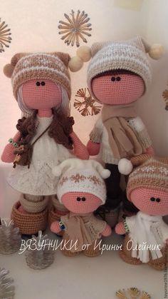 Купить ВЯЗАНАЯ СЕМЕЙКА - семья, вязаные игрушки крючком, кукла ручной работы