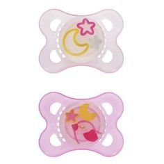 MAM Night *Glow-in-the-Dark*- month Pacifiers- Clear and Raspberry Pink- Stars & Moon and Sleepy Bird Mam Pacifier, Baby Binky, Baby Toys, Baby Pacifiers, Toddler Bottles, Baby Bottles, Diaper Genie Refill, Diaper Bag, Wishes For Baby
