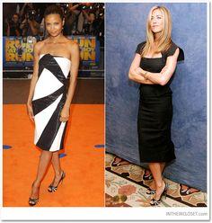 Thandie Newton & Jennifer Aniston in Alexander McQueen