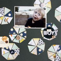 """Silly Boy:Mandie Pierce for Cocoa Daisy Scrapbooking Kits,February 2014 """"Color Swatch"""" #cocoadaisykits #scrapbooking #scrapbook #kitclub #scrapbookkit"""