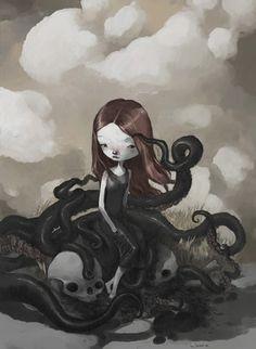 el misterio de la chica pulpo by ~tonysandoval on deviantART