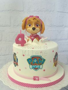 Skye paw patrol cake