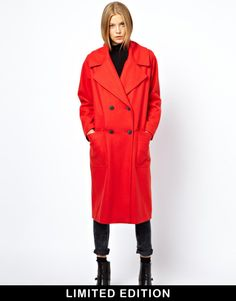 ASOS Limited edition red longline coat http://rstyle.me/~KkIN
