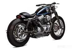 """Roberto Rossi's Sportster 1200 custom """"Stellalpina"""" is built to tackle twisty mountain roads."""