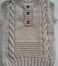 No automatic alternative text. Baby Boy Knitting Patterns Free, Baby Sweater Patterns, Knit Vest Pattern, Baby Cardigan Knitting Pattern, Knit Baby Sweaters, Knitting For Kids, Baby Boy Sweater, Crochet Baby Clothes, Knitting Designs