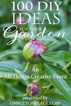 100 DIY Ideas for Your Garden   Tips and advice for all types of gardening. Container, Vegetable, Herbs, Flowers, Landscape and more! 10 bloggers are sharing their best!