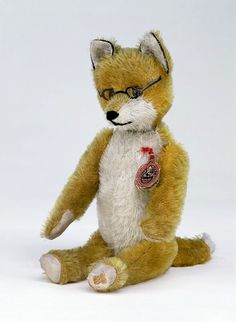 Really cute 1930's Schuco jointed mohair Fox.