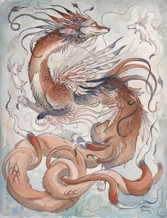The Coyote Dragon by Ashley Smith (Kitsune-Seven) on deviantART