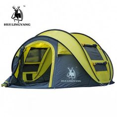 HUI LINGYANG throw tent outdoor automatic tents throwing pop up waterproof camping hiking tent waterproof large family tents. Outside Tent Waterproof Index: mm. Season: Four-season Tent. Beach Camping, Go Camping, Outdoor Camping, Camping Hacks, Outdoor Gear, Camping Essentials, Camping Cabins, Camping Stuff, Camping Activities