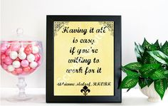 Real Housewives Printable Quote Art Adrienne by ScreenQuotes