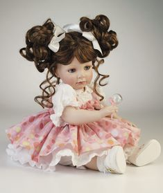 Betsy Bubbles Marie Osmond Doll - 10 inch seated, artist JoAnn Pohlman, Playtime Toddler.