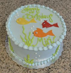 Fish In The Sea! Cute Kid's Birthday Cake by Sugarland