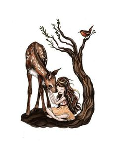 The Dear Girl raised in the forest
