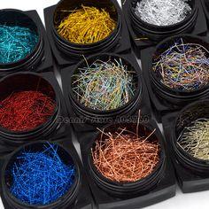Beautiful 12 Colors Glitter Long Stripes Lines Nail Art Acrylic Manicure Decorations Set