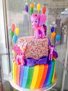 My little pony cake, hundreds and thousands idea good
