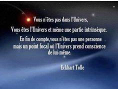 """Qui dit """"l'univers me donnera"""" """"j'ai demandé à l'univers"""".  L'univers c'est VOUS ! En étant conscient de vous, vous êtes l'univers. Un doute ? Une question ? Nous expérimentons cela avec la pratique de la Comm Quantique. #quantumcommunication #communicationquantique #spiritualité Communication, Phrases, Universe, Custom In, Communication Illustrations"""
