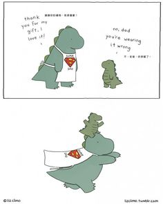 """theoriginalpompeii: """"awesome-picz: """" Awkward Everyday Lives Of Animals By Simpsons Illustrator Liz Climo """" These are too cute it aches """" Funny Animal Comics, Funny Comics, Funny Animals, Cute Animals, Sheldon The Tiny Dinosaur, Cute Dinosaur, Rory The Dinosaur, Liz Climo Comics, Tierischer Humor"""