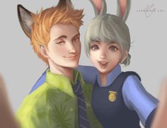 nick and judy   Nick and Judy by lashialee on DeviantArt