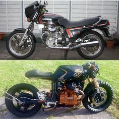 This particular scrambler motorcycle before and after is unquestionably a stunning style approach. Bmw Cafe Racer, Cafe Moto, Cafe Racer Style, Cafe Bike, Custom Cafe Racer, Cafe Racer Build, Cafe Racer Motorcycle, Honda Cx500, Honda Scrambler
