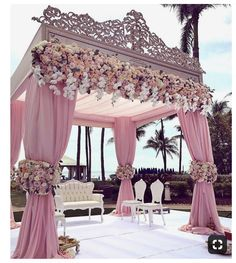 We are simply stunned by these incredible wedding decorations 💗 Double tap if this could be your dream wedding decor … ⠀ Decor by Event planner Source Wedding Goals, Wedding Themes, Wedding Colors, Wedding Designs, Wedding Flowers, Wedding Stage Design, Decor Wedding, Perfect Wedding, Dream Wedding