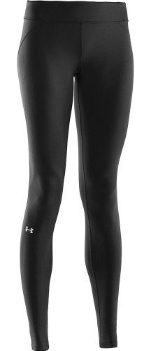 Under Armour Women's UA CG Infrared Evo Leggings BLACK LG Quick drying material. Built in 4-way stretch helps improve mobility and accelerate dry time. Fabric treated with antimicrobial agents to help manage odor. Flatlock stitching keeps chafing to a absolute minimum. Warmth without the squeeze with updated winter waistband construction.  #UnderArmour #Sports