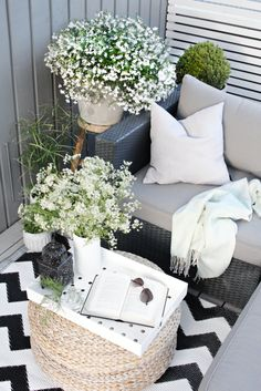 Small spaces can be fabulous, as you'll see in these tiny balcony garden spots with moods that range from city sophistication to pure Zen.