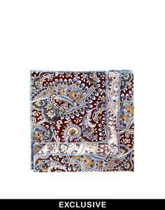 $22, Brown Paisley Pocket Square: Reclaimed Vintage Paisley Pocket Square. Sold by Asos. Click for more info: https://lookastic.com/men/shop_items/82877/redirect
