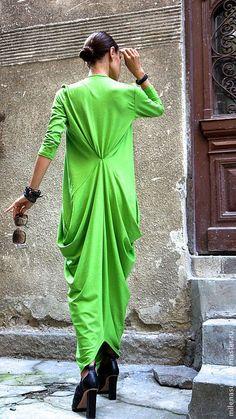 Купить Платье летнее Grass Green - ярко-зелёный, зеленое платье, платье, платье в пол