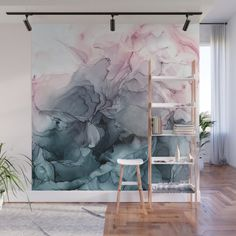 Give Your Home a Bold Accent Wall with New Peel + Stick Wall Murals - Design Milk wall painting Give Your Home a Bold Accent Wall with New Peel + Stick Wall Murals Bedroom Colors, Bedroom Decor, Bedroom Curtains, Bedroom Ideas, Accent Wall Bedroom, Accent Walls, Master Bedroom, Accent Chairs, Decoration