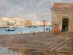 elmayordelosdiez: Felix Vallotton, Venise, L'Ancienne Douane et le Grand Canal