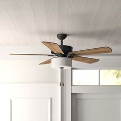 Three Posts Sina 5 Blade Ceiling Fan, Light Kit Included Accessories: Standard No Remote Caged Ceiling Fan, Ceiling Fan Pull Chain, Black Ceiling Fan, Flush Mount Ceiling Fan, Ceiling Fan With Remote, Ceiling Fan Light Kits, Living Room Ceiling Fan, Bedroom Ceiling Fans, Modern Ceiling Fans