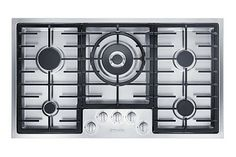 Miele KM2356GRV gas cooking stove, sunken into the counter top