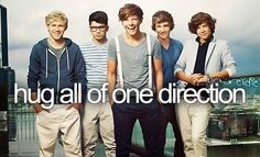 I had a dream that I met them and hugged all of them except for Niall..and it made me sad :'(