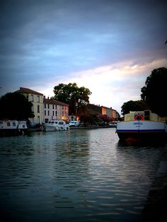 Summer light on the Canal du Midi in the South of France