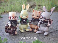 Cute Fantasy Creatures, Cute Creatures, Naruto Sketch Drawing, Biscuit, Kawaii Shop, Pretty Dolls, Designer Toys, Custom Dolls, Ooak Dolls