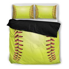 ac2932d9d9039 Softball Bedding Set starting at $79.95 for twin - 99.95 for King #sports  #bedding. Shop With Cre
