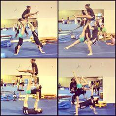 123 fantastiche immagini su acrogym  ginnastica yoga in