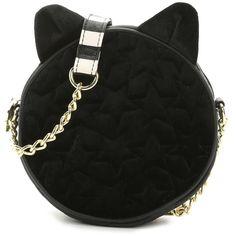 Luv Betsey Velvet Cat Crossbody Bag Women's Handbags & Accessories |... ($18) ❤ liked on Polyvore featuring bags, handbags, shoulder bags, betsey johnson crossbody, green handbags, handbag purse, shoulder handbags and handbags crossbody